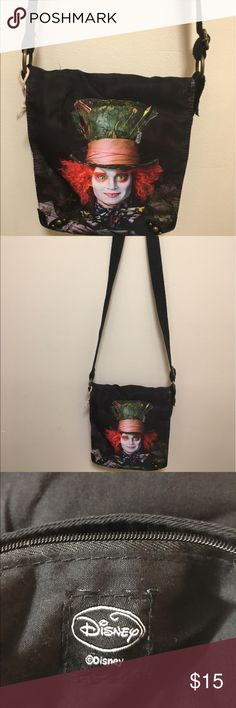 Disney Mad Hatter Cross Body Purse Disney Mad Hatter Alice in Wonderland black Cross Body Purse. Disney Bags Crossbody Bags