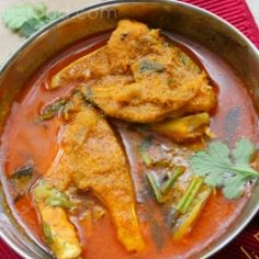 Yougurt Fish Curry-Bengali Style by Sirisfood Curry Recipes, Fish Recipes, Seafood Recipes, Indian Food Recipes, Cooking Recipes, Fish Dishes, Seafood Dishes, Fish And Seafood, Bangladeshi Food