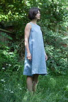 a-Line Dress with a tie tutorial