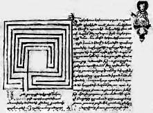 Labirinto di Mogor (Marín, Pontevedra) - Spagna Miniatura su una bibbia armena (1634) - rappresentazione della città di Gerico