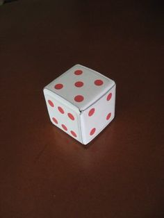 Dados de Origami Imprimibles Dice, Poker, Puzzles, Origami, Container, Math, Games, Home Made, Board Games