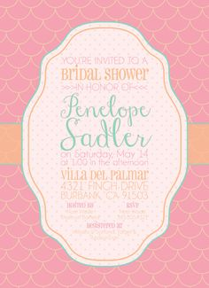 Yummy Sherbet-Inspired Bridal Shower, Baby Shower, or Birthday Party Invitations