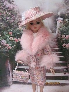 Easter Pink Suit for Ellowyne, 3 pc with Jacket, Skirt, Pants and Accessories | by kris5566 via eBay SOLD 3/24/14   $32.39