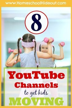 Homeschool PE Channels to Get You Moving! We are LOVING this list of fun Homeschool PE Channel. My kids beg to do Yoga For Kids, Exercise For Kids, Elementary Pe, Pe Activities, Movement Activities, Physical Activities For Kids, Pe Ideas, Kids Moves, Homeschool