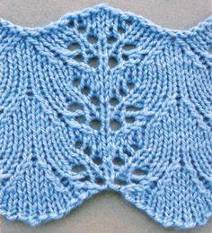 Larkspur lace - Bordüre - Anleitung (engl) inkl. Strickschrift auf knithit.com