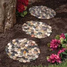 Use garden stepping stones from Bits and Pieces to create a pretty garden accent or a unique footpath in the garden. These riverstone stepping stones are unique Christmas gifts to give to gardeners. Unique Garden, Diy Garden, Garden Projects, Garden Ideas, Landscaping With Rocks, Backyard Landscaping, Landscaping Ideas, Inexpensive Landscaping, Backyard Patio