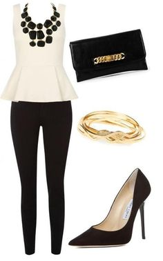 Lovely black and white with gold accents