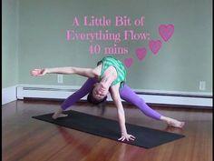 40 Minute Yoga Challenging Vinyasa Yoga Class - A Little Bit of Everythi...