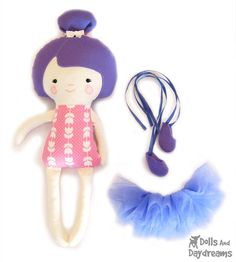 Ballerina Cloth Doll Sewing PDF Pattern Ballet Dancer Doll Clothes Tutu and Ballet Slippers included. <3 <3 <3