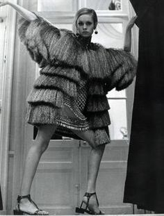 Twiggy in YSL, 1960s.