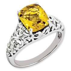 2.95 ct Sterling Silver Citrine Ring for $89.97