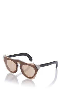 These **Marni** sunglasses are rendered in acetate and feature a layered design and keyhole bridge.