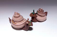 Swirly Model Magic® Snails craft
