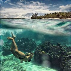 French polynesia...crystal clear waters!!
