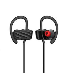 b159e44a5bf Bluetooth Headphones Wireless Stereo InEar Noise Cancelling Earbuds with  Mic Bluetooth Sport Sweatproof Running Earphones Black -- Click image for  more ...