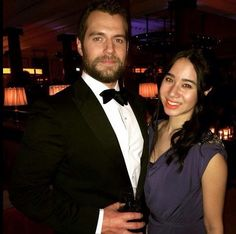 Henry Cavill with lucky girl at the Bafta Afterparty in London 2015