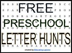 FREE Preschool Letter Hunts – print letter recognition fun   educatinglaytons.com