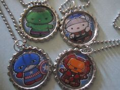 4 Pack of Hello Kitty Avengers Necklaces by TinkerbevsTrinkets, $24.99