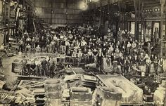 BHP Interior of Steel Foundry, Newcastle, NSW, Australia [n. Historical Images, Historical Society, Australian Road Trip, Newcastle Nsw, My Town, Old Photos, Past, University, Steel