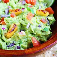 DIP INTO THIS: Grilled pineapple guacamole PLUS 9 more insanely delicious Cinco de Mayo party recipes: http://www.womenshealthmag.com/nutrition/guacamole-recipes