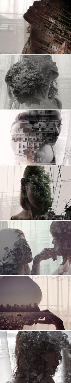 multi-exposure, layers, portraits