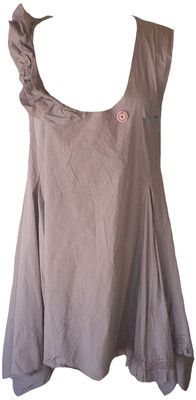 Ewa I Walla Dusty Mauve Cotton Asymmetric Jumper Dress Lagenlook   eBay $95 but would copy this style