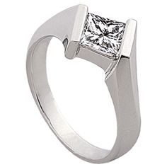 Bypass Princess Engagement Ring by http://www.engagediamonds.com/