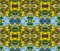 Blue pond fabric by baas on Spoonflower - custom fabric