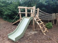 Awesome 38 Perfect Diy Playground Ideas To Make Your Kids Happy. natural playground ideas 38 Perfect Diy Playground Ideas To Make Your Kids Happy Wood Playground, Toddler Playground, Natural Playground, Backyard Playground, Backyard For Kids, Playground Ideas, Backyard Treehouse, Playground Slide, Outdoor Play Areas