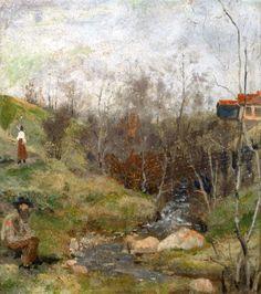 The Athenaeum - Spring Landscape (882) (Edvard Munch - )