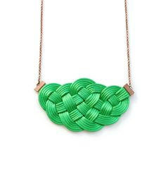 Big sailor knot necklace in green satin cord by elfinadesign Summer Necklace, Green Necklace, Sailor Knot, Nautical Necklace, Jewelry Knots, Knot Necklace, Green Satin, Nautical Wedding, Cord