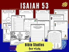 Sunday School Lessons, Lessons For Kids, Easter Activities For Kids, Fun Activities, Bible Study Questions, Religion Activities, Bible Study For Kids, Old Testament