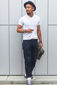 details: Street Style: Classic in Converse, a White Tee, and Dark Denim  Style For Menwww.yourstyle-men.tumblr.com VKONTAKTE -//- FACEBOOK
