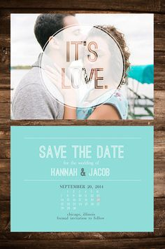 Customizable Save The Date Wedding Invitation by CatherinesPaperie