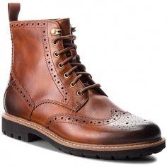 5eb7d4753f2e0c Ботуши CLARKS - Batcombe Lord 261271907 Dark Tan Leather