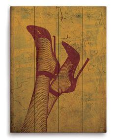 Look what I found on #zulily! Fishnet Stockings Wall Art #zulilyfinds
