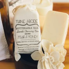 MILK & HONEY GENTLE CLEANSING BAR $13.00 SOLD IN STORE @ Pacific Basket Company Milk Bath, Milk And Honey, Goat Milk, Our Body, Soy Candles, Twine, Shea Butter, Body Care, Artisan
