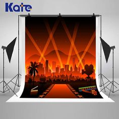 Hollywood Lights Movie Red Carpet Photography Backdrops City
