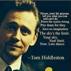 Tom Hiddleston #quote