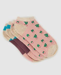 Pack de dos pares de calcetines de mujer Easy Wear estampados
