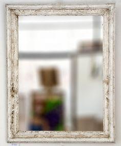 espejo con marco blanco texturado medidas x cm varilla italiana de