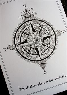 compass star tattoo - Google Search