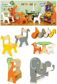 I'm a big fan of P'kolino's great pieces at great prices, and their Safari collection is no exception. The range is aimed at ages 3 to 6, and comprises tables, chairs, wall hooks…