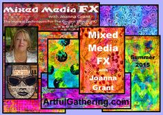 Join Joanna Grant for this fun and affordable ONLINE class - summer 2015 Gelli Arts, Funky Design, Plate Art, Summer 2015, Art Blog, Altered Art, Mixed Media, Original Art, My Arts