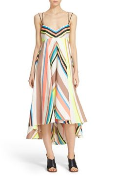 MILLY Fluorescent Stripe Dress. #milly #cloth #