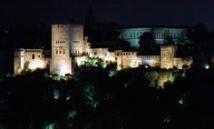 the Alhambra by night, from the Albaicin