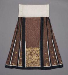 Woman's domestic skirt (qun)  Chinese (Han), Qing dynasty; Daoguang/Xianfeng periods, mid-19th century