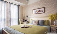 Simple and beautiful American bedroom design 2015