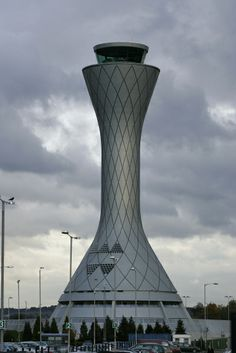 #Edinburgh #Airport Tower: At 57 metres high and with a striking design, the air traffic control tower at Edinburgh stands out on the skyline miles away from the airport itself. At night, lit up in an array of changing colours, it becomes even more of an #icon. #aviation #ATC