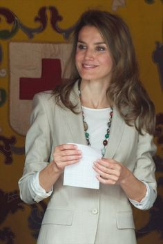 Spanish Princess Letizia attends the Red Cross Fundraising Day 2013 on 3rd Oct in Madrid, Spain.